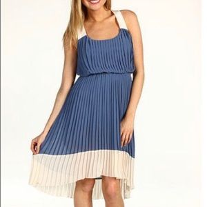 Jessica Simpson high-low pleated dress